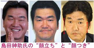 島田紳助 顔だち 顔つき