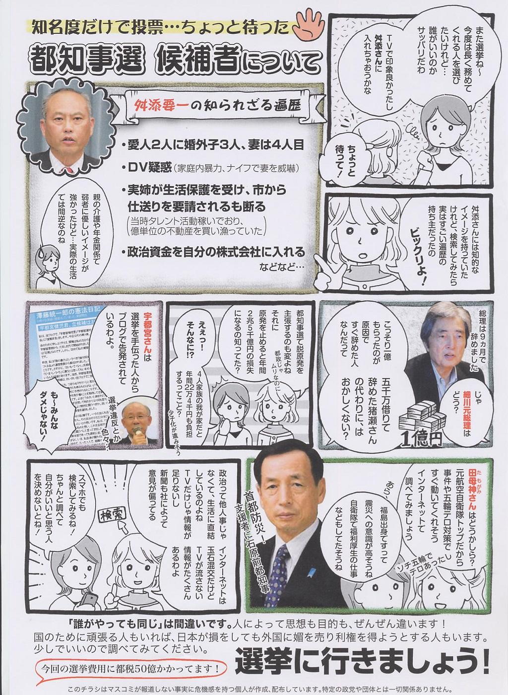 東京都知事選挙 田母神