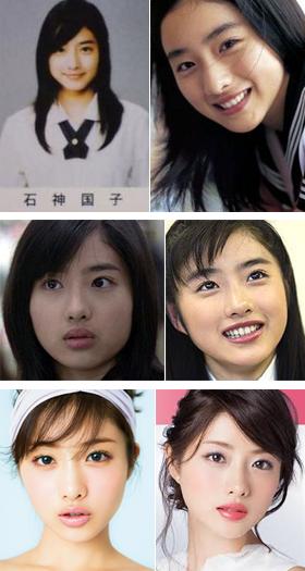 石原さとみの顔の変化のコピー