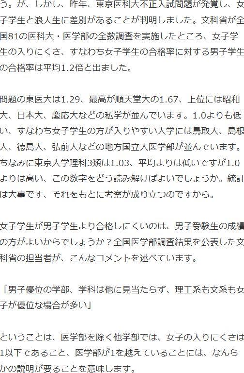 上野千鶴子 医学部